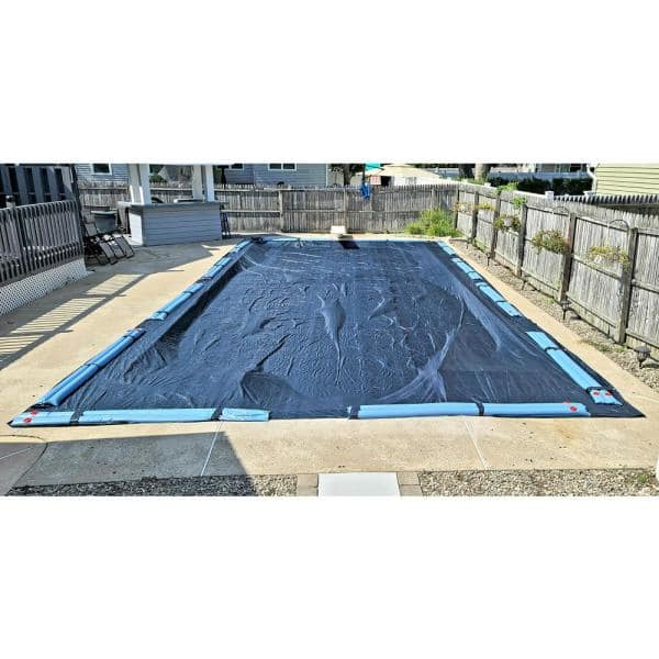 Winter Block Winter Block 8 Year 16x32 Rectangular Blue In Ground Winter Pool Cover Wc1632re The Home Depot