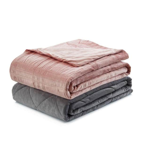 Cozy Tyme Ekon Blush 48 In X 72 In 25 Lb Weighted Blanket B17120 15bht Hd The Home Depot