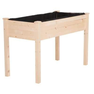 48 in. L x 22 in. W x 30 in. H Outdoor Wooden Raised Garden Bed for Vegetables, Herbs, and Flowers