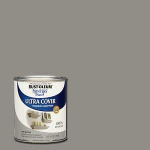 32 oz. Ultra Cover Satin Stone Gray General Purpose Paint (Case of 2)
