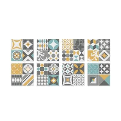 Vintage Cadiz 9 in. W x 9 in. H Peel and Stick Self-Adhesive Decorative Mosaic Wall Tile Backsplash (4-Pack)
