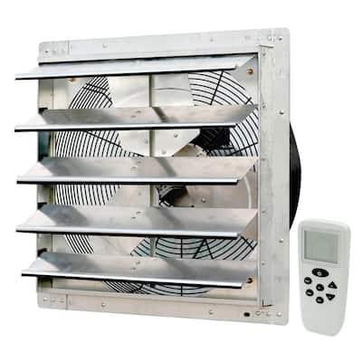 1736 CFM Silver Electric Powered Gable Mount Shutter Fan/Vent