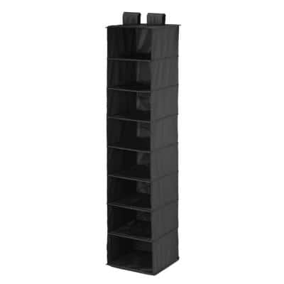 8-Shelf Black Hanging Organizer