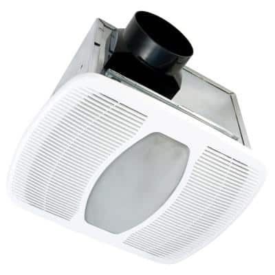 ENERGY STAR® Certified Quiet 50 CFM Ceiling Bathroom Exhaust Fan with LED Light