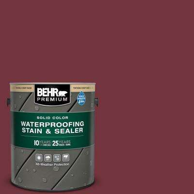 1 gal. #S130-7 Cherry Cola Solid Color Waterproofing Exterior Wood Stain and Sealer