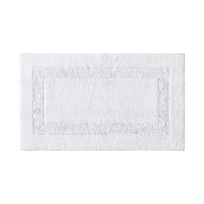 21 in. x 34 in. Long Branch Reversible White Solid Cotton Rug