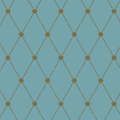 Winterthur Empire Diamond Wallpaper -Small Wall Stencil