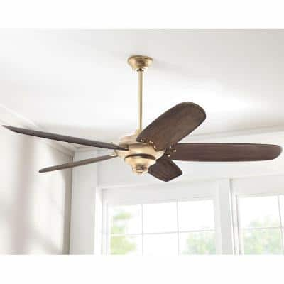 Altura DC 68 in. Indoor Brushed Gold Dry Rated Ceiling Fan with Downrod, Remote Control and DC Motor