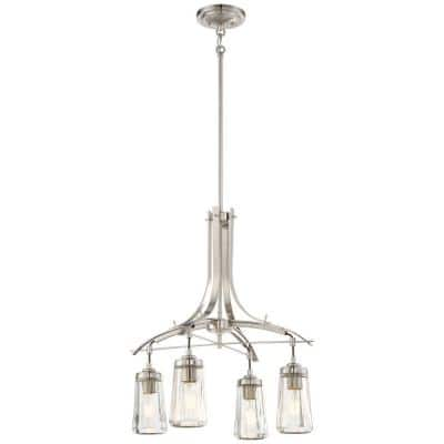 Poleis 4-Light Brushed Nickel Chandelier