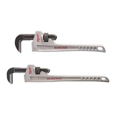 24 in. and 18 in. Aluminum Pipe Wrench Set (2-Piece)