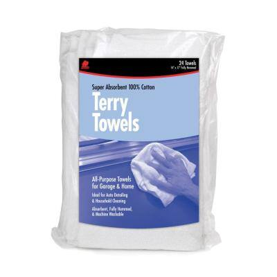 All- Purpose Terry Towels - 14 in. x 17 in. (24-Pack)
