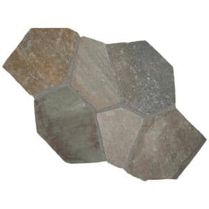 Golden White 18 in. x 24 in. Multi-Colored Meshed Flagstone Paver Tile (40 Pieces / 110 Sq. Ft. / Pallet)