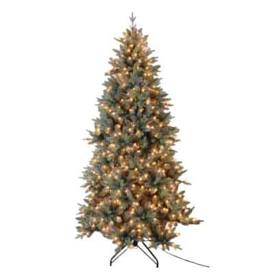 7.5 ft. Blue Spruce Artificial Christmas Tree with 650 UL Lights