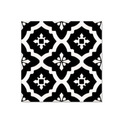 Take Home Sample - BaseCore 6 in. W x 12 in. L Dark Venetian Waterproof Peel and Stick Luxury Vinyl Flooring