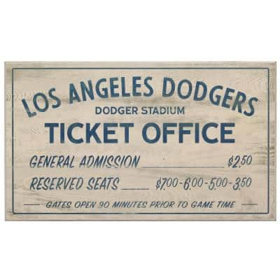 Los Angeles Dodgers Vintage Ticket Office Wood Wall Decor