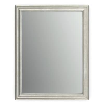 23 in. W x 33 in. H (S2) Framed Rectangular Standard Glass Bathroom Vanity Mirror in Vintage Nickel