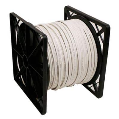 500 ft. RG59 Coaxial Cable with Power Cable - White