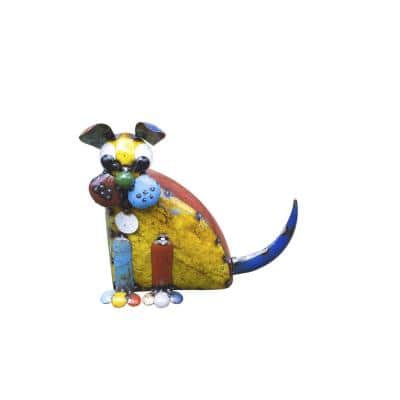 15in. Recycled Iron Dog
