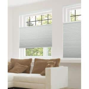 Perfect Lift Window Treatment Cut To Width White 1 5in Cordless Blackout Top Down Bottom Up Cellular Shade 60in W X 64in L Qfwt600640 The Home Depot