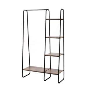 Black Steel Clothes Rack 39.37 in. W x 67.7 in. H