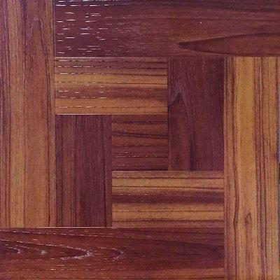 Red Oak Parquet 12 in. x 12 in. Peel and Stick Vinyl Tile Flooring (30 sq. ft. / case)