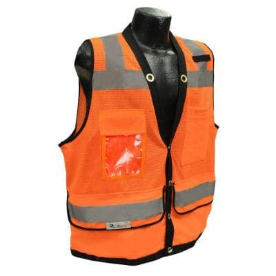 CL 2 Heavy Duty Ex Large Surveyor Orange Dual Safety Vest