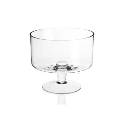 Lexington 9 in. Clear Mouth Blown Glass Trifle Bowl