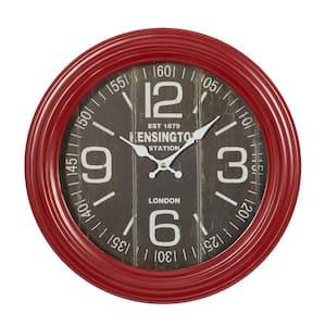 Red Metal Farmhouse Wall Clock
