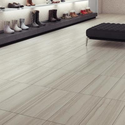 Evelina Blanco 12 in. x 24 in. Matte Porcelain Floor Tile (11.57 sq. ft. / carton)