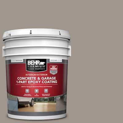 5 gal. #PFC-73 Pebbled Path Self-Priming 1-Part Epoxy Satin Interior/Exterior Concrete and Garage Floor Paint