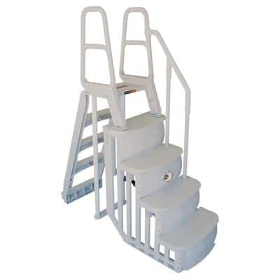 Smart Step and Ladder System Above Ground Swimming Pool