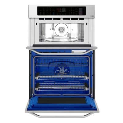 30 in. Smart Electric Convection & EasyClean Combination Wall Oven with Built-In Microwave in Stainless Steel