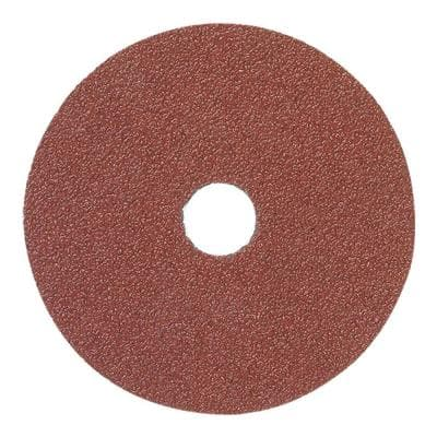 4-1/2 in. x 7/8 in. Center Hole 120-Grit Aluminum Oxide Fibre Disc (Pack of 25)