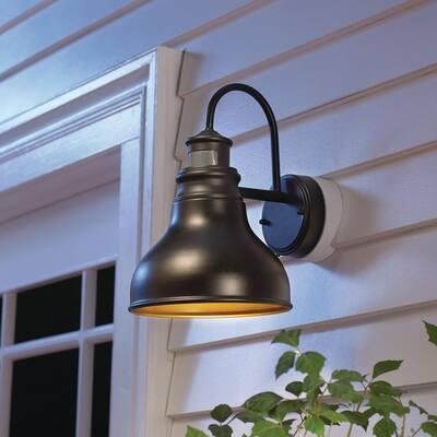 Oil Rubbed Bronze Outdoor LED Motion Sensor Wall Barn Light Sconce Lantern
