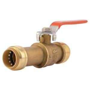 3/4 in. Push-to-Connect Brass Slip Ball Valve