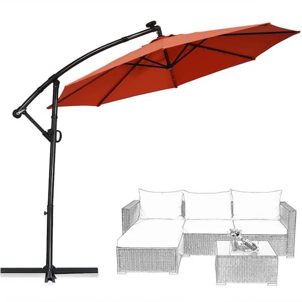 Costway 10 Ft Aluminum Offset, 10 Ft Cantilever Patio Umbrella