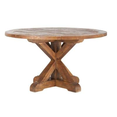Cane Bark Round Dining Table