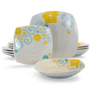 Summerfield 12-Piece Casual White Ceramic Dinnerware Set (Service for 4)