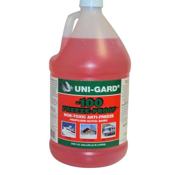 128 Oz Uni Gard 100 Freeze Proof Rv Antifreeze 131425 The Home Depot