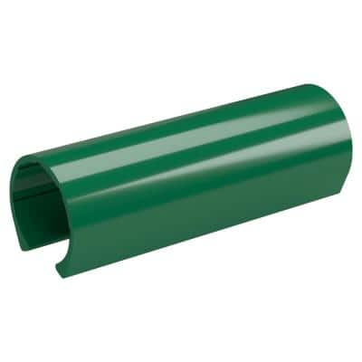 1-1/4 in. x 0.33 ft. Green PVC Pipe Clamp Material Snap Clamp (10-Pack)