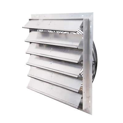 24 in. 4450 CFM Shutter Exhaust Fan Wall Mounted, Variable Speed
