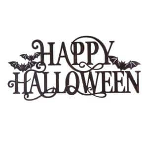 23.94 in. Metal Happy Halloween Wall Sign