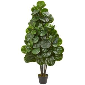 52 in. Indoor Fiddle Leaf Fig Artificial Tree