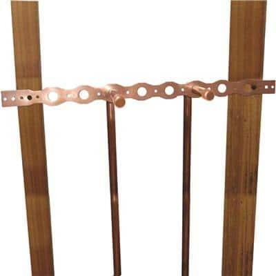20 in. 1/2 in. Bracket Copper Bonded Pipe