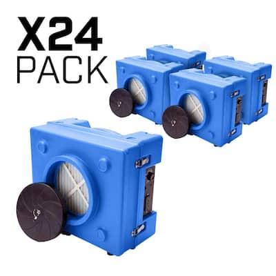 1/3 HP 2.5 Amp HEPA Air Scrubber Purifier for Water Damage Restoration Negative Air Machine in Blue (24-Pack)