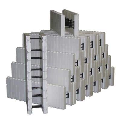 4.2 lbs. 40 in. L x 12.5 in. H x 10 in. W Insulated Concrete Forms (Bundle of 20)