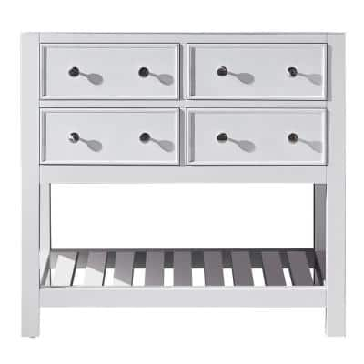Elodie 35.2 in. W x 21.7 in. D x 33.5 in. H Bath Vanity Cabinet Only in White
