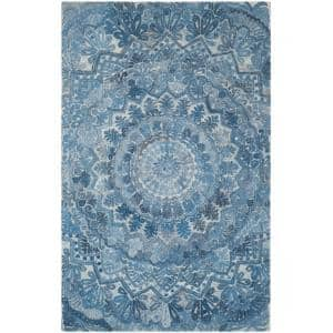 Marquee Blue/Ivory 5 ft. x 8 ft. Area Rug