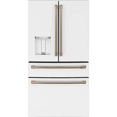 27.8 cu. ft. Smart 4-Door French Door Refrigerator in Matte White, Fingerprint Resistant and ENERGY STAR