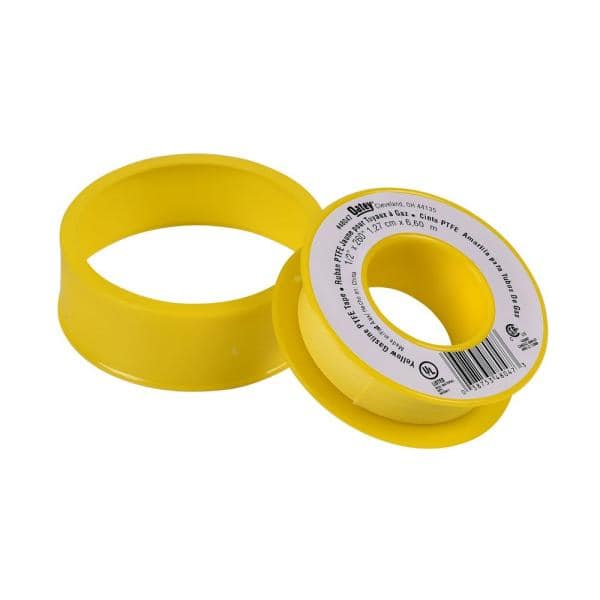 Oatey 1 2 In X 260 In Yellow Thread Sealing Ptfe Plumber S Tape 31403d The Home Depot